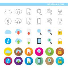 Hosting icons.