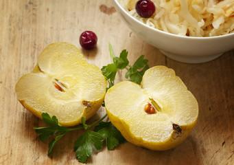 sauerkraut and pickled apples