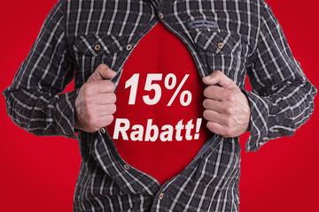 Mann Hemd 15% Rabatt