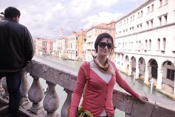 Beautiful woman in Venice
