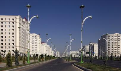 Ashgabat, Turkmenistan.  Modern architecture buildings