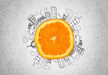 Orange. Orange