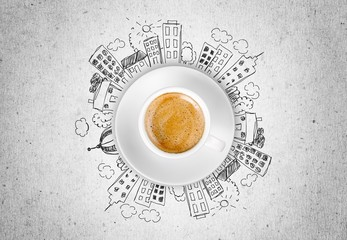 Coffee. Cup of coffee (CLIPPING PATH included)