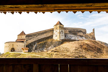 Medieval fortress in Rasnov, Romania