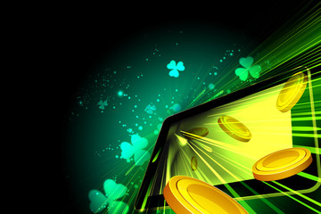 Money falling out of the tablet pc