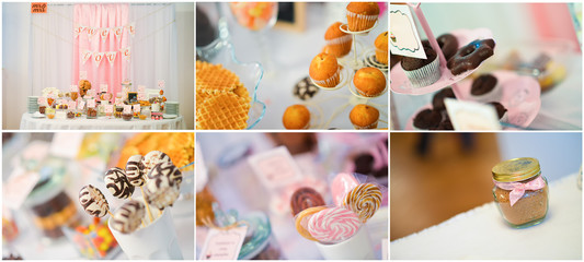 Wedding sweets collage