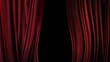Leinwanddruck Bild - Red backstage theater