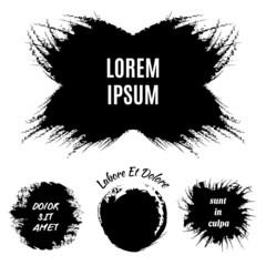 Hand-drawn grunge logo designs