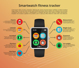 Smartwatch fitness tracker poster