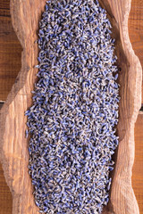 Dried lavender flowers.