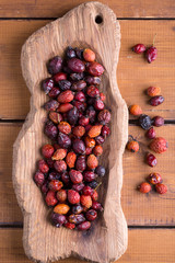 Dried rose hip berries