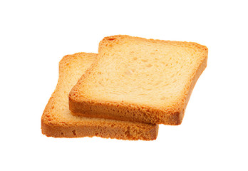 Two toasted bread slice