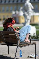 Pause im Schloßgarten