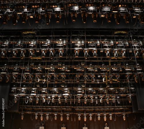 Fotobehang Licht, schaduw Stage spotlights