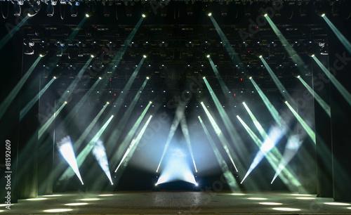 Fotobehang Licht, schaduw Concert stage