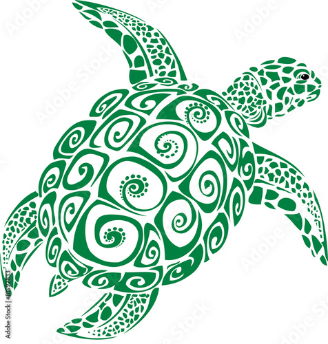 Poster Green Sea Turtle
