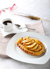 Breakfast with apple pie