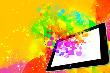 Creativity concept on a digital tablet