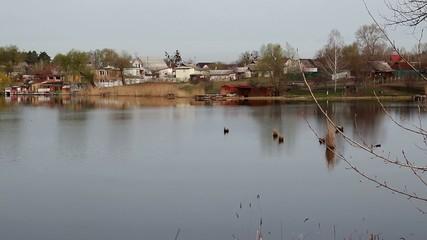 Beautiful landscape lake