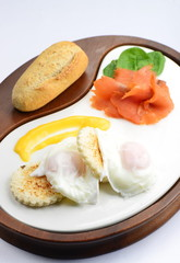 Breakfast, Egg Benedict with smoked salmon