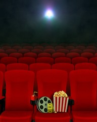 Movie show in cinema and seats