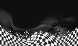 race, checkered flag background vector - 81595892