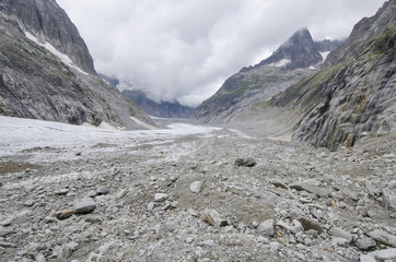 Alpine landscape with mountains and glacier