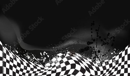 Zdjęcia na płótnie, fototapety, obrazy : race, checkered flag background vector