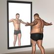 Human man fat and slim concept