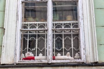 Altes Holzfenster in Altbau