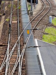 Weiche einer Eisenbahn