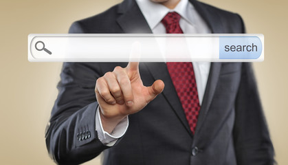 Man push empty toolbar