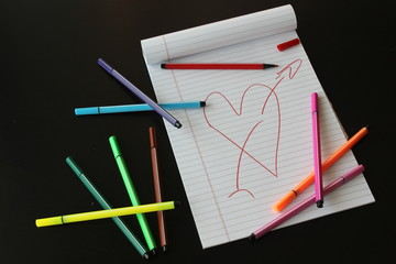 Heart drawing