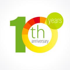 10 anniversary chart logo