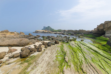 Nature landscape view of Yehliu Geopark, Taiwan