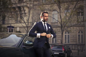 Businessman in elegant clothes