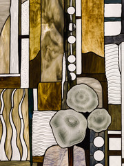 abstract stained glass Tiffany