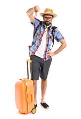 Tourist doing bad signal