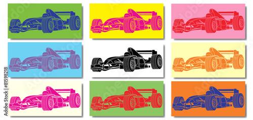 Naklejka Voiture de course Formule 1