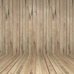 wall and floor wood background