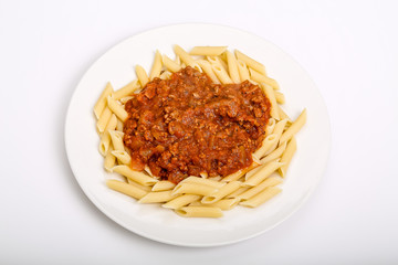 Meat Sauce on Penne
