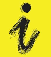 I Information symbol doodle  icon