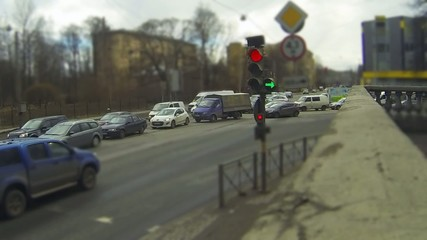 traffic light time lapse