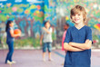 Elementary school children playing basketball. Friendship concep - 81599490