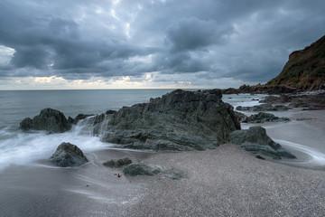 Grey Sky over Portwrinkle in Cornwall