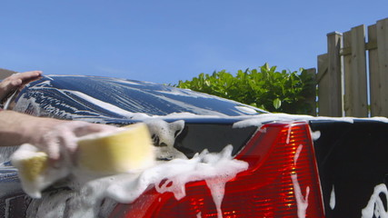 Care Care - Washing a car by hand