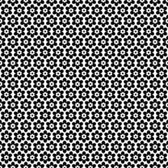 Seamless Retro Pattern Flowers Black/White