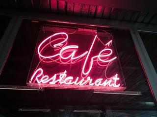 Café Restaurant néon