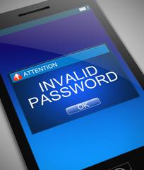 Invalid password concept.