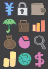 Business and Finance Vector Icon Set in Color